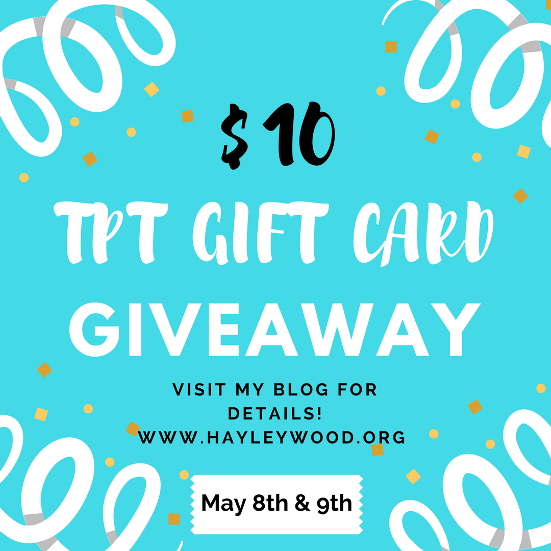 Enter Now to Win a $10 TPT Gift Card + TPT Teacher Appreciation Sale!