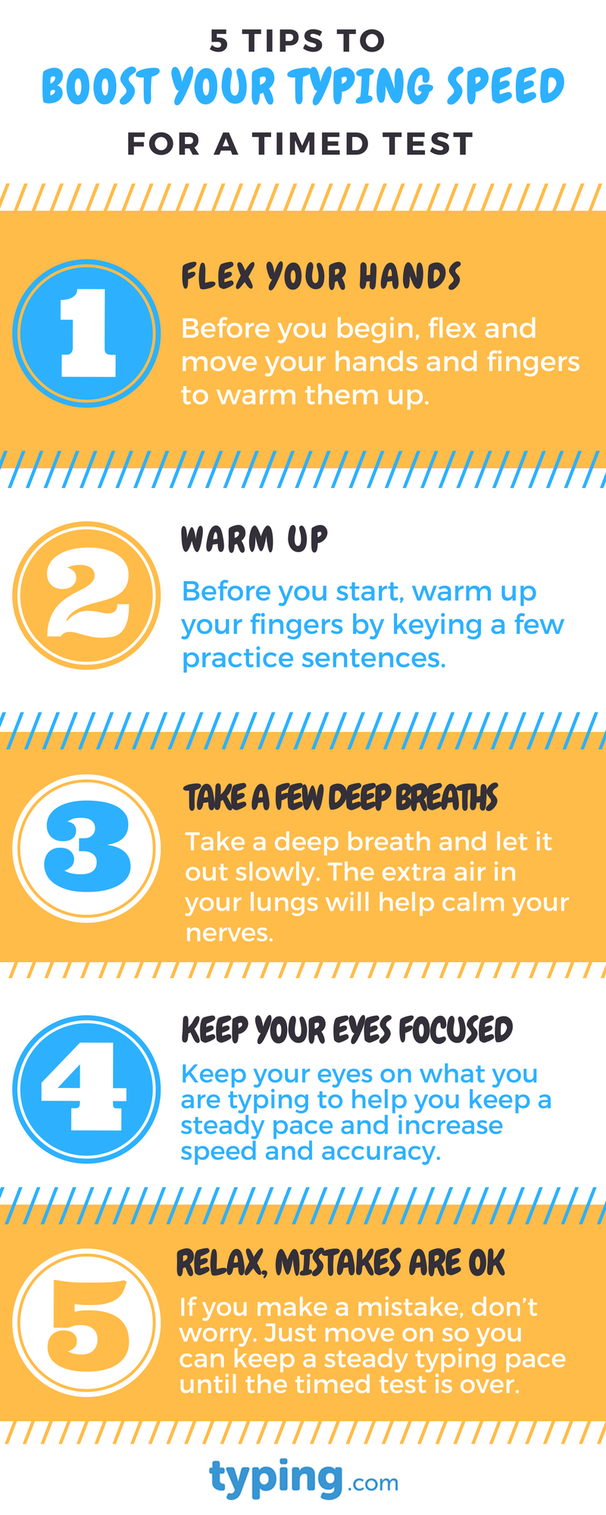 5 tips to boost your typing speed for a timed test {infographic}