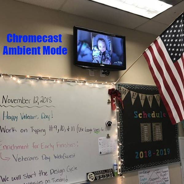 Chromecast Ambient Mode in the Classroom can display your favorite photos from any Google Photos album.