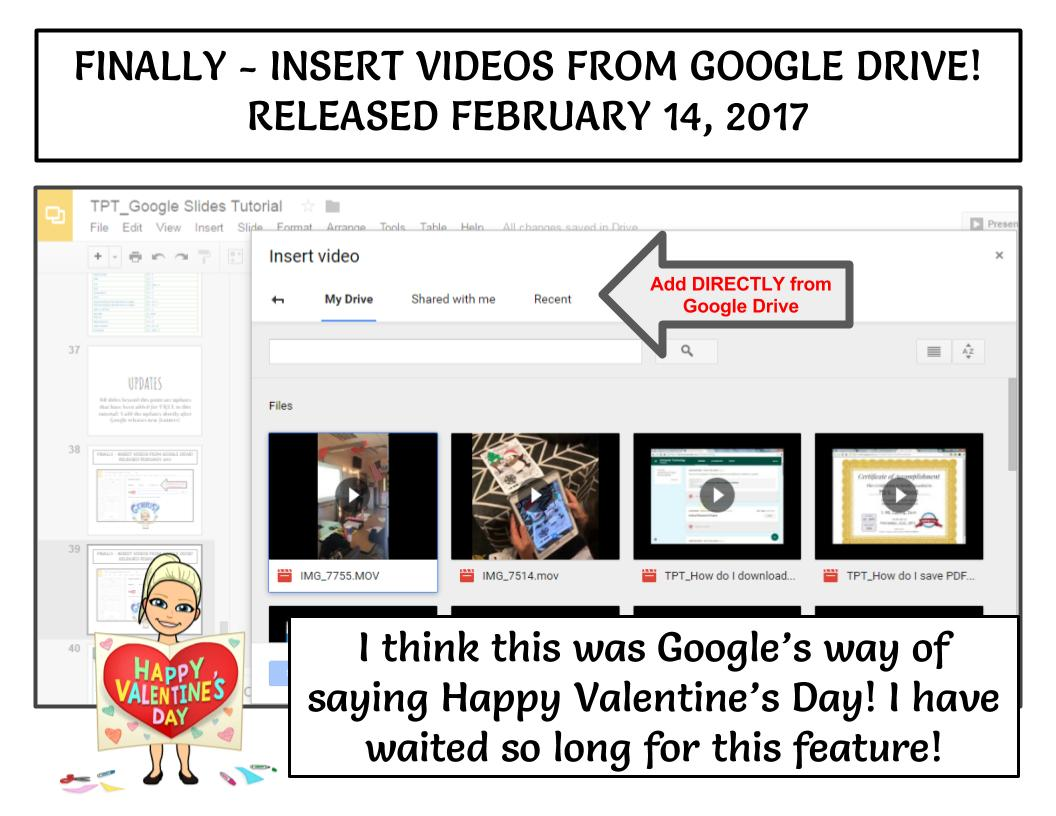 Insert your Google Drive videos directly in Google Slides!